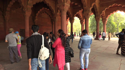 Delhi, India, 29 MAR 2019 - Interiors of Red Fort in… Stock Video Footage