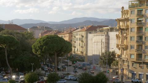 Savona cityscape in bright sunlight, Italy Archivo
