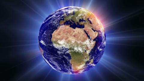 Earth Aura 003: An aura of light envelopes the Earth Animation