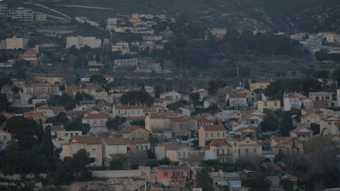 Houses in the uplands. Marseille, France Archivo