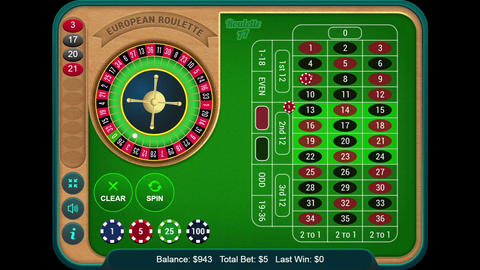 Playing Online Casino Gambling Roulette Wheel Game On The Digital Tablet GIF