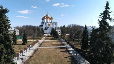 Assumption Cathedral in Yaroslavl Footage