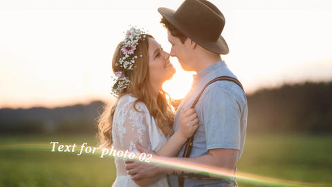 Light Stripes Romantic Slideshow After Effects Template