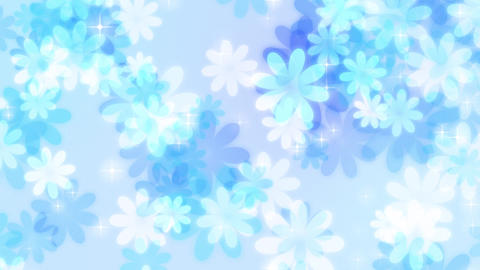 Flower-pastel-lateral-loop-blue Animation