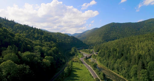Amazing Mountain aerial view, a suggestive aerial video in Karpaty mountain 4k Live Action