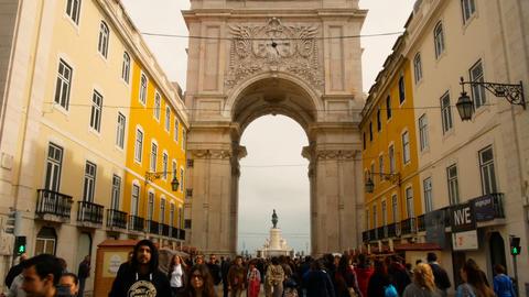 Praca do Comercio in downtown of Lisbon GIF