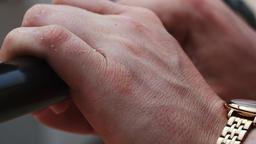 Human Hands Holding Black Bar Footage