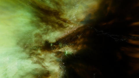 Space 2189: Traveling through star fields in outer space Animation