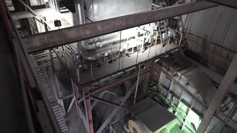 Power plant. inside view of the combined heat and power plant Live Action