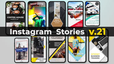 Instagram Stories v 21 After Effects Template