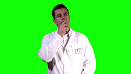 Young Scientist Touchscreen Greenscreen 8 Stock Video Footage
