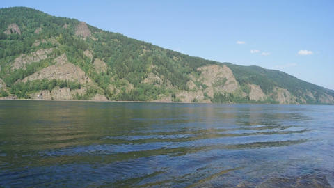 Yenisei River Waves Stock Video Footage