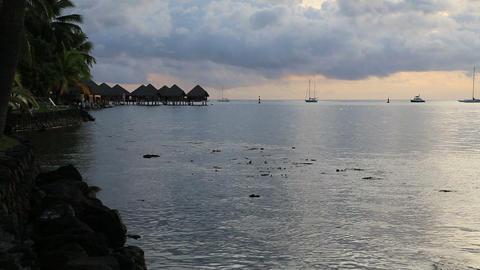 Tahiti sunset Footage