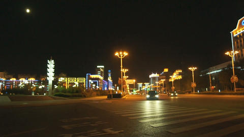 Night City Heihe View Tongjianglu 02 Footage
