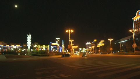 Night City Heihe View Tongjianglu 02 Stock Video Footage