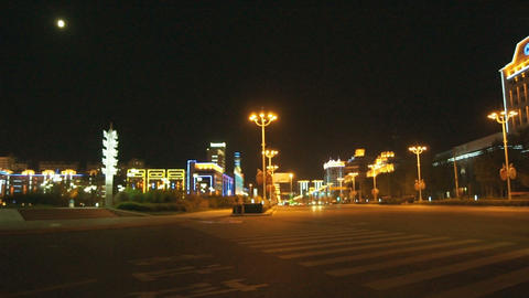 Night City Heihe View Tongjianglu 02 Stock Video Footage
