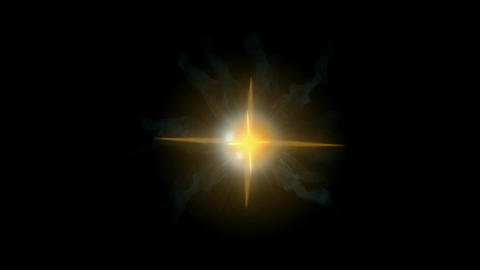 vortex hole & golden energy rays laser in universe Stock Video Footage