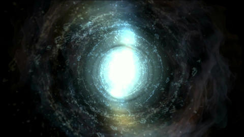 energy vortex in universe,travel in tunnel hole Animation
