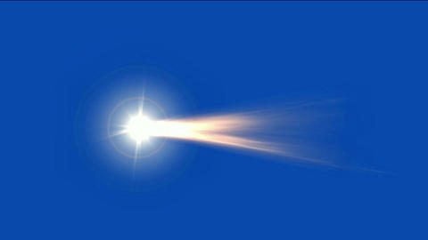 meteor with fireball flying in space Animation