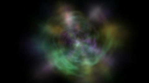 rotate galaxy & nebula,color rays light pulse in space Stock Video Footage