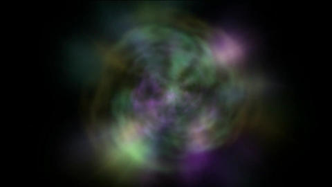rotate galaxy & nebula,color rays light pulse in space Animation