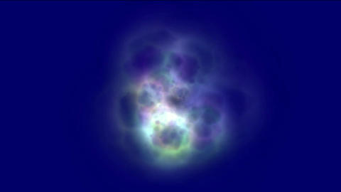 nebula & galaxy,color energy magnetic pulse in space Animation
