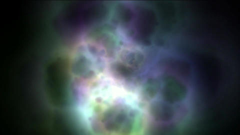 nebula & galaxy,color energy magnetic pulse in space Stock Video Footage
