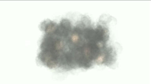 scene of an explosion smoke in battle Animation