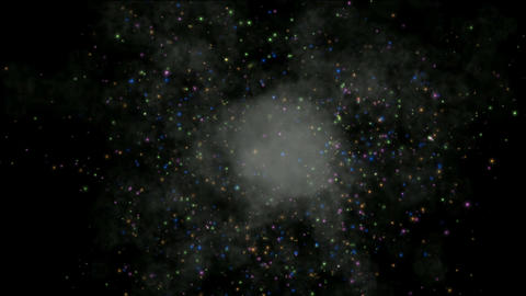 fireworks & explosion particles in sky,energy... Stock Video Footage