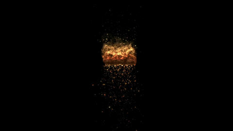 fireworks & explosion sparkle particles,lava fireball... Stock Video Footage