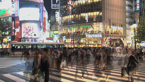 Shibuya Crossroad 03 Stock Video Footage