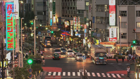 Shinjuku 04 Stock Video Footage