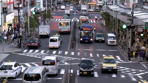 shinjuku traffic slide 1 Stock Video Footage