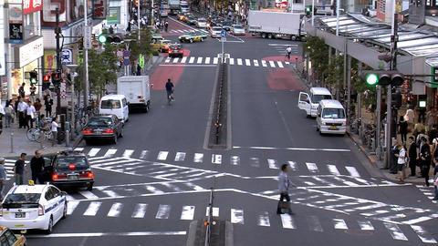shinjuku traffic slide 1 Stock Video Footage