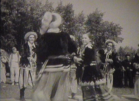 Newsreel Soviet Union, dances at the festival Footage
