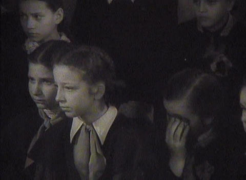 The funeral of Stalin in the USSR. Newsreel Footage