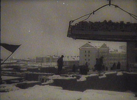 The construction in the USSR, newsreel Stock Video Footage