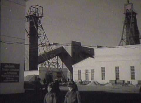 The miners of the USSR coal is mined. Newsreel Stock Video Footage