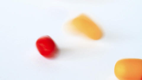 Pill Capsules Falling Stock Video Footage