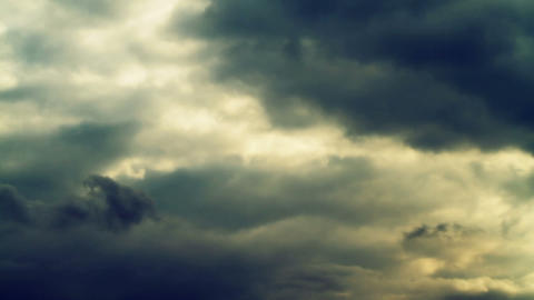 Time Lapse Dark Clouds. No birds, No Flicker Stock Video Footage
