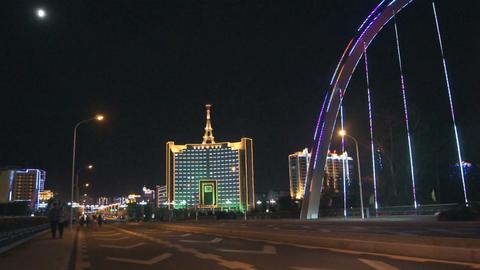 Heihe Night City Road Bridge Stock Video Footage