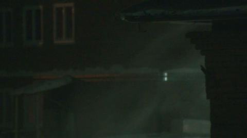Night Snowstorm Stock Video Footage