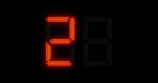 1080p Sports Shot Clock Countdown From 27 to 0 Footage
