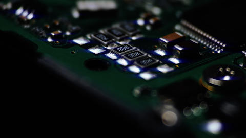 1080p Circuit Board / Processor Chips / Micro Electronics Footage
