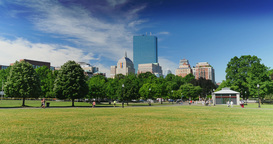 Day Establishing Shot Boston Common Park Footage