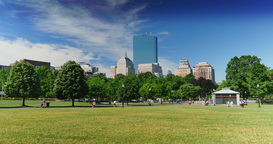 Boston Common Day Establishing Shot Footage