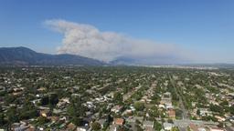 Super Big Fire Happen Around San Gabriel Mountains, Los Angeles, U.S.A stock footage