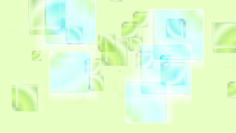 Green cyan glossy abstract squares video animation Animation