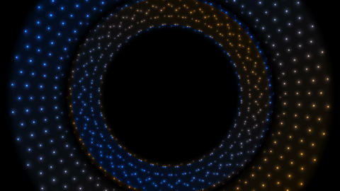 Glowing shiny blue orange circles video animation Animation