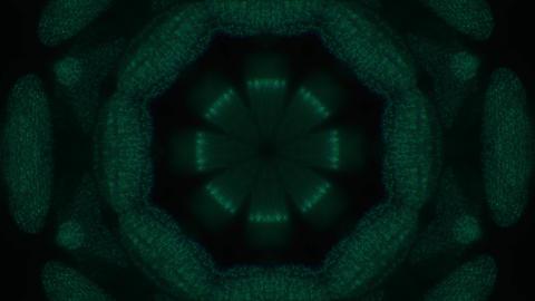 Kaleidoscope ornamental footage, futuristic dreamy iridescent background Footage